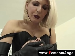 Juicy femdom spitting and..