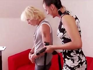 Femdom babe pegging my ass