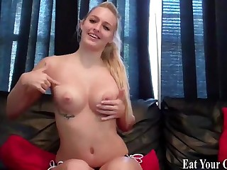 Cum on my tits and eat it..