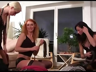 3 Girls Femdom Party at Home..