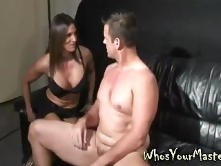 Guy Spanked and toy fucked..