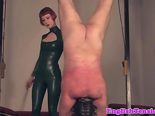 Dominant mistress whipping..