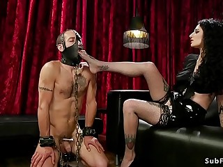 Busty goth mistress anal..