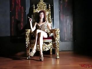 Mistress Smoking on her Throne