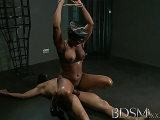 BDSM XXX Caged slave boy..