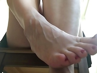 Amazing FOOT slave POV ASMR...