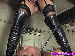 Bondage pissing treatment..