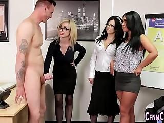 Cfnm birt mistress blows