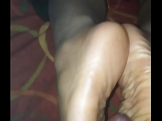 footjob from ebony mistress