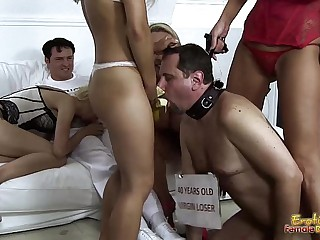 Mistresses-Feed-Banana-To-Cu..