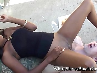 Ebony Mistress Pissing White..