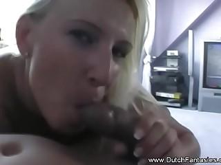 Dutch Blonde Mistress Fucked