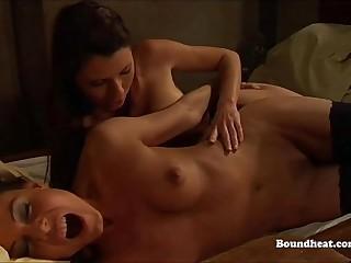 Lesbian sex slaves getting..