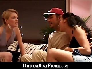 Blonde spank her boyfriend..