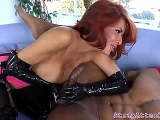 Redhead mistress pegs and..
