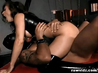 Latex Mistress Dominates Her..
