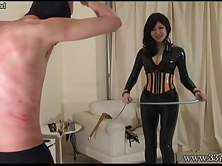 Japanese Femdom Whipping and..