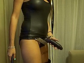 dominatrix mistress in latex..