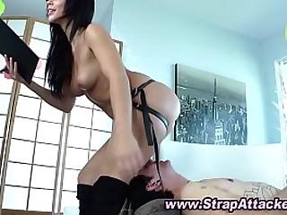 Sexy femdom mistress face..