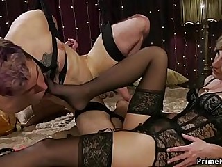 Mistress in lingerie anal..
