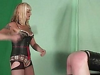 Mistress Kelly spanks and..