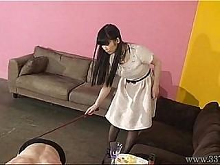 Japanese femdom foot worship..
