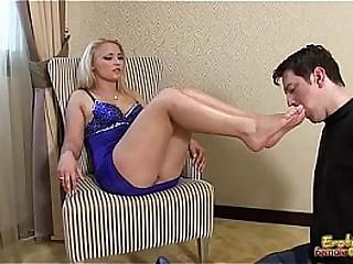Slave Licks His Mistress..