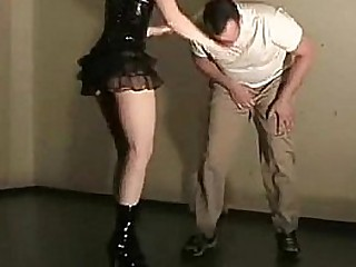 Ballbusting and under heels..