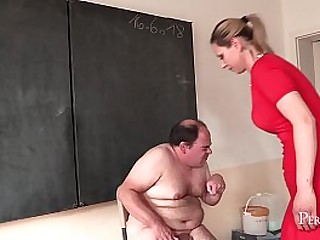 Blonde Mistress Gives a..