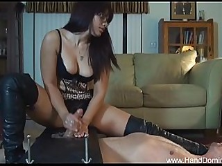 bondage handjob from..