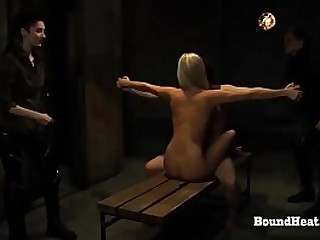 Young Lesbian Slaves Tied Up..