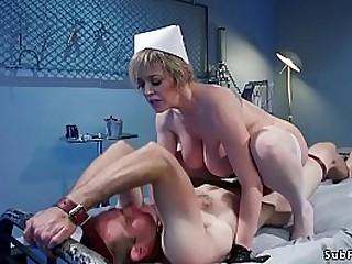 Huge tits blonde femdom Milf..