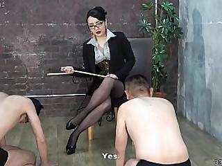 Japanese femdom slaps men,..