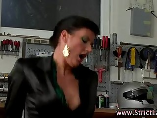 Stockinged mistress fuck