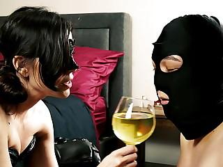 Slave drinks Mistress..