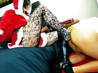 Mrs. Claus kicks..
