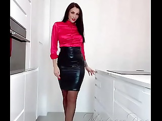Mistress Dee Red Satin Blouse