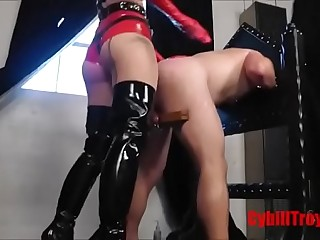 Cybill Troy Wrecks His Sissy..