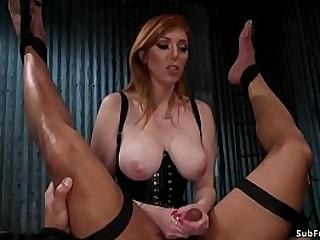 Huge tits redhead MILF..