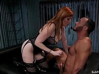 Natural huge tits redhead..