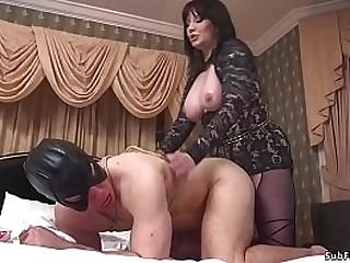 Big tits brunette MILF..