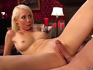 Big tits blonde domina..