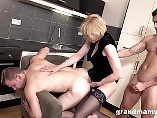 Horny grandmam gets her..