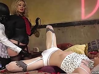 Big boobs blonde MILF femdom..