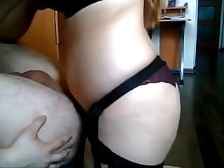 She Strapon Fucks His Ass..
