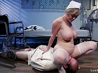 Huge tits blonde Milf nurse..