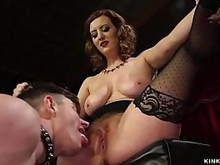 Hot big tits brunette MILF..