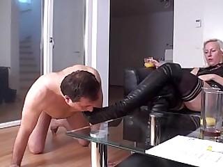 Femdom Ladies order slaves..