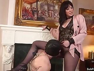 Big tits dark haired femdom..