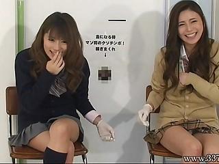 Japanese femdom give handjob..